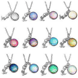 $enCountryForm.capitalKeyWord Australia - Mermaid Necklace Shimmery Mermaid Scales Fish Choker for Women Girls Party Jewelry Gifts wholesale free shipping