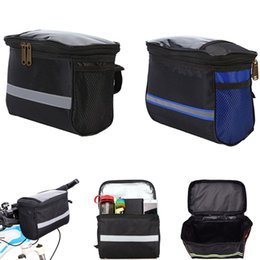 $enCountryForm.capitalKeyWord UK - Outdoor Sports Bicycle Handlebar Bag Bike Front Frame Pouch Pannier Zipper Pocket for Cellphone Water Bottle New