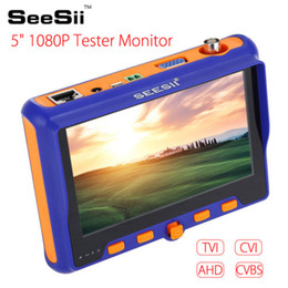 hd camera tester NZ - 5inch 1080P HD Tester Monitor TVI CVI AHD VGA CVBS CCTV Camera PTZ Test Portable