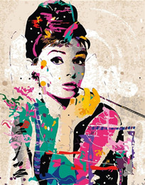 $enCountryForm.capitalKeyWord Australia - Digital Oil Painting DIY Oil Painting Home Wall Decor Festival Gift -Audrey Hepburn 16x20 inch Paint by Numbers for Adults Beginner