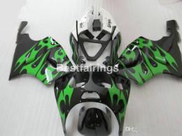 Kawasaki Zx7r Green Australia - high quality plastic fairing kit for Kawasaki Ninja ZX7R 1996-2003 green black fairings kits ZX7R 96-03 TY64