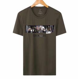 Comfort Cotton T Shirts UK - NEW top mens designer tshirt AX brand t shirt EXCHANGE luxury shirts camouflage letter print t-shirt fashion summer tees comfort cotton tee