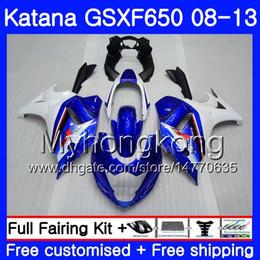 White Katana Australia - Bodys For SUZUKI KATANA GSX650F 2008 2009 2010 2011 2012 2013 303HM.59 GSX 650F GSXF650 GSXF 650 08 09 10 11 12 13 Fairing Blue white top