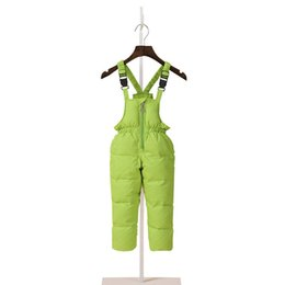 c91303400807 Children Boys Winter Jumpsuit Down Overalls For Girls 1-7 Years Kids  Waterproof Overalls Toddler Baby Girl Pants Infant Clothing