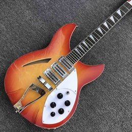 electric guitar jazz model NZ - GRAND Orange burst 12 strings Ricken 360 model Electric Guitar Factory custom hollow body Rick Jazz Guitar Free shipping