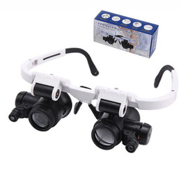 magnifier jeweler glasses NZ - 8X 23X Magnifying Eye Glass Magnifier Loupe with LED Light Jeweler Watch Repair