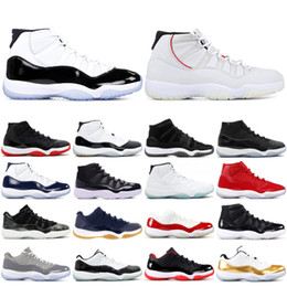 964307906ec6b1 11 11s Men Basketball Shoes 2019 New Concord Platinum Tint Designer  Sneakers XI Chicago Bred Space Jam Women Sports Shoes 36-47