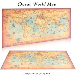 Wall Graphics Prints Australia - World Map large size vintage posters adornment retro print paper wall stickers posters world for wall pictures maps