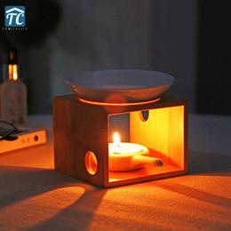$enCountryForm.capitalKeyWord Australia - Candle Aromatherapy Furnace Bamboo Incense Burner Sleeping Home Romantic Oil Candles Holder Bedroom Lamp Beauty Fragrance Q190613