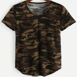 Ladies Camouflage Tops Australia - Casual Summer Tops Female Short Sleeve Women T Shirt Army Green Camouflage Harajuku O-neck Cotton Tees Lady