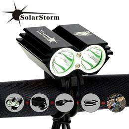 $enCountryForm.capitalKeyWord Australia - SolarStorm X2 Bike Light 5000Lm Waterproof XM-L U2 LED Bicycle Headlight Lamp Flash light & Rechargable Battery Pack + Charger #24408