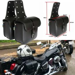 Venta al por mayor de 2 unids Retro Motorcycleside bolsa colgando de la motocicleta Side Riding bolsa de viaje lado bolsa lado bolsa para Harley para Honda