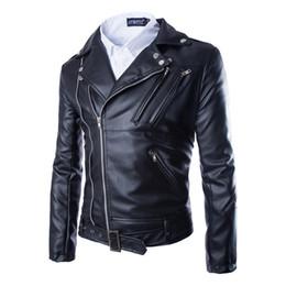 Jackets Motorcycles Nylon Australia - 2019 Brand Hot Sale Man Zipper Leather Jacket High Quality Fashion Jacket Men Black Motorcycle Leather Jacket