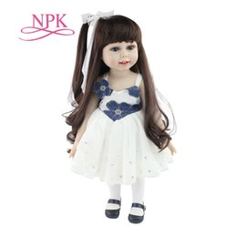 $enCountryForm.capitalKeyWord UK - 18 Inch Handmade Doll Full Body Vinyl Silicone Baby Doll Toys Realistic Toddler Reborn Doll For Children Birthday Gift MX190801