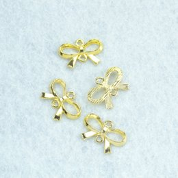 Gold Pendant Connectors Australia - Accessories Jewelry Findings Components 100pcs metal charms gold plated bow tie connector pendants findings fit Necklaces and bracelets ...