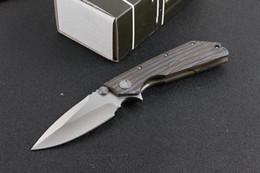 $enCountryForm.capitalKeyWord Australia - New Micro Fire version DOC Death Touch knives D2 Blade TC4 titanium alloy Handle Ball Bearing Camping Hunting Survival EDC Tool