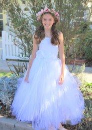 Easter Tutus Australia - Tutu Flower Girl Dresses Wedding Pageant Easter Communion Formal Occasion Princess Dress