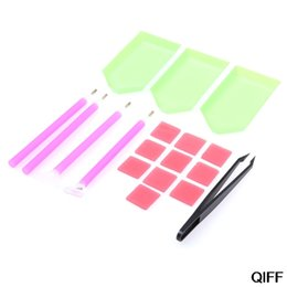 $enCountryForm.capitalKeyWord Australia - Wholesale 18Pcs Diamond Painting Cross Stitch Tool Kit Sticky Pen Tweezers For DIY Crafts May06