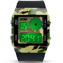 colourful watches NZ - Function Colourful Led Man Wrist Watch Lovers Waterproof Electronic Watch Male Fund
