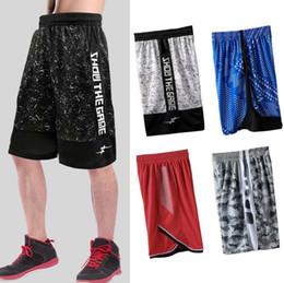 Nuevo estilo de respirar libremente Baloncesto Una sola capa pantalones cortos deportivos sueltos pantalones de baloncesto corriendo entrenamiento físico informal de secado rápido transpirable en venta