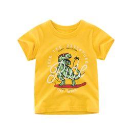 Summer Boys T Shirts Patterns Australia - 2019 Dinosaur Pattern Children's Short-sleeved T-shirt Children's Clothing Boy T-shirt Baby Summer New Cotton Skin-friendly Baby Clothes