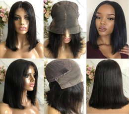 long lace wig cuts UK - Celebrity Wig Bob Cut Lace Front Wigs 10A Grade Brazilian Virgin Remy Human Hair Natural Color Bob Full Lace Wigs Fast Express Shipping