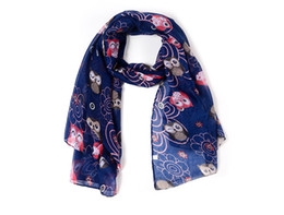 Beautiful hijaB scarves online shopping - 2018 New Cute Owl In Tree Print Scarves Shawls Women Fashion Animal Print Scarf Wrap Hijab Animal Scarf Hijab Beautiful