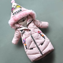 Winter Wear For Girl Child Australia - good quality girls winter warm coats kids fashion thick long down parkas for girls children clothing girls snow wear hoodies jackets