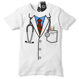 Wholesale Doctor Uniform Funny T Shirt Novelty Gift Hospital Nurse Surgeon Gift tshirt Hipster O Neck Casual Short Sleeve New High Quality