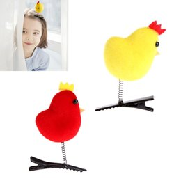 plastic chicks Australia - 1Pc Kids Girl Cute Chicken Hair Clip Cute Hairpin Chick Barrette Funny Hairclip