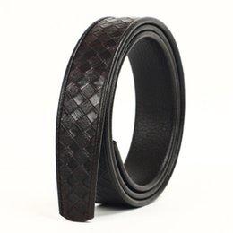 Canvas Cow Prints UK - 2019-37 Men's 2-layer leather 3.5 Men's belt automatically buckles headless cow belt