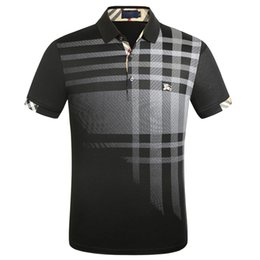 Wholesale polo casual shirts for sale – custom FF Luxury Europe Paris patchwork men Tshirt Fashion Mens Designer T Shirt Casual Men Clothes medusa Cotton Tee luxury polo