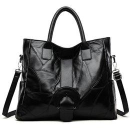 Sheepskin Hand Bag Australia - 2019 Designer Patchwork Sheepskin Leather Bags Women Handbag Large Capacity Tote Shoulder Bag Women Big Hand Bags bolsos mujer