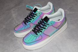 Fiber Force Australia - Air Forced 1 07 Demon Man Women Running Shoes 3M Reflective light Micro Fiber Sports Sneakers