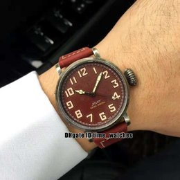 luxury watches red dial NZ - NEW men's watches 11.1941.679 94 red dial high quality 8215 movement automatic watch Gents Luxury dress watches red leather strap