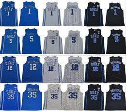 2018 2019 Duke Blue Devils NCAA College Jersey 1 Zion Williamson 2 Cam Rojizo 5 RJ Barrett 35 Marvin Bagley III 34 Wendell Carter cosido on Sale