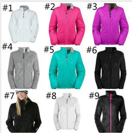 Wholesale black woman jackets resale online - Face Fashion Brand Women Soft Fleece Osito Jackets High Quality Ladies Mens Kids SoftShell Ski Down Coats Windproof Casual Coats Black Whit