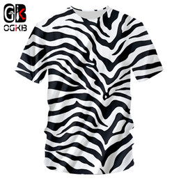 zebra tee Australia - Ogkb Tshirt 2018 New Zebra Stripes O Neck T-shirt Large Size Leisure 3d Printing Personality Loose Fitness Workout Tee Shirts Y19072201