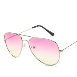 shop for sunglasses UK - 2020 Fashion New Summer Pink Gradient Sun Glasses For Women Girls Mirror Sunglasses Womens Retro Shopping Vintage Sunglasses