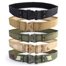 Wholesale Duty Free Australia - Combat 2 Inch Canvas Duty Tactical Sport Belt with Plastic Buckle Adjustable Outdoor Fan Hook & Loop Waistband