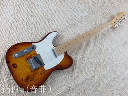 $enCountryForm.capitalKeyWord NZ - Free Shipping Top Quality Maple fingerboard F Left Handed Telecaster Sunburst Electric Guitar White Guard Board