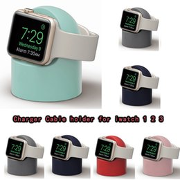 dock station smart watch Australia - Charger Cable holder for iwatch 1 2 3 Docks Silicone Charge Stand Holder Station Dock for Apple Watch Series 1 2 3 4 42mm 38mm
