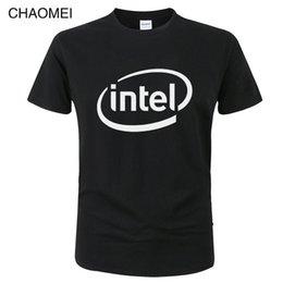 Intel s online shopping - Intel Logo Merchandise T shirt Men Women Fashion Summer Cotton Short Sleeves Print T Shirt Unisex Tops Tees C10