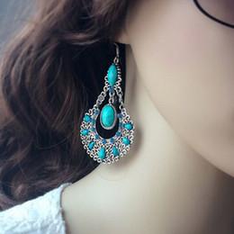$enCountryForm.capitalKeyWord Australia - Boho Crystal Long Tassel Drop Earrings Solar Flower For women Ethnic Geometric Sign Dangle Statement Earring Fashion Jewelry FE101127