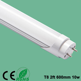 industrial fluorescent light NZ - 2ft T8 LED TUBE Lamp Split Tube 2ft 600mm 10W Led light 110V 220V Fluorescent CE Rohs Approved, Factory Price Free Shipping
