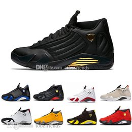 light up shots Australia - New 14 Men Basketball Shoes Varsity Royal Candy Cane Desert Sand the Last Shot Red Suede Light Graphite Grey 14s Sneakers 40-47