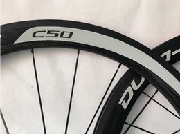 $enCountryForm.capitalKeyWord UK - 700c Road Bike alloy carbon Wheels 50mm Clincher Racing Bike C50 logo Carbon Wheels Basalt Brake Surface with R36 hubs