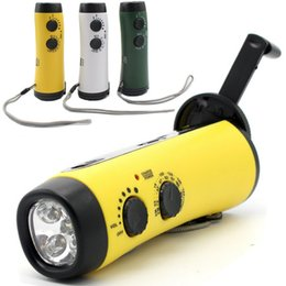 Lighting generator online shopping - USB Portable Emergency Hand Crank Generator Solar AM FM WB Radio Charger Outdoor Camping Light