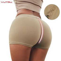 Wear Compression Shorts Australia - Vutru Yoga Shorts Push Up Sports Wear Women Gym Fitness Compression Elastic Seamless Yoga Shorts Running Short Deportivo Mujer #189302