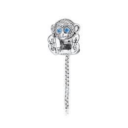 $enCountryForm.capitalKeyWord UK - 2019 Original 925 Sterling Silver Jewelry glitter monkey Charm Beads Fits European Pandora Bracelets Necklace for Women Making